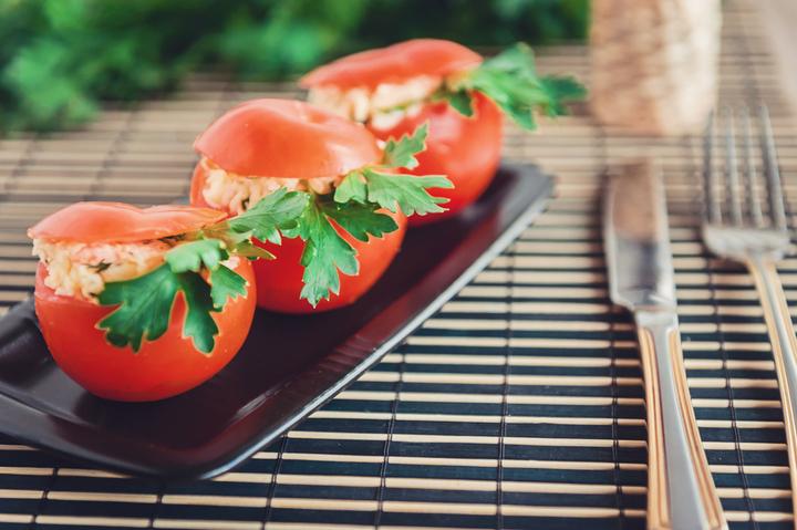 Provence-style stuffed tomatoes